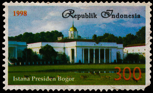 Stamp of president palace bogor